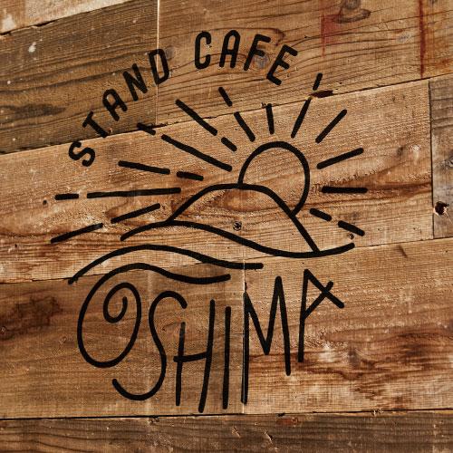 大島器械:カフェスタンド&サービス室 サイン