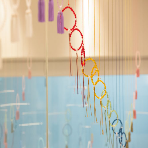 京都珠数製造卸協同組合:珠数のある風景 みやこめっせ展示 ディスプレイ